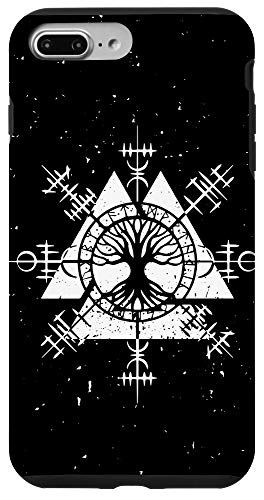 iPhone 7 Plus/8 Plus Viking Signs Blackcraft Witchcraft Tattoo Graphic Tarot Tree Case