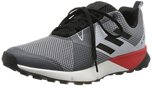 adidas Terrex Two, Zapatillas de Trail Running Hombre, Gris Multicolor, Three F17 Core Black Active Red Bc0499, 41 1/3 EU