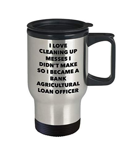 DKISEE Ik werd een Bank Landbouw Lening Officer Travel Mok - Bank Landbouw Lening Officer Geschenken - Grappige Nieuwigheid Verjaardag Present Idee 14oz