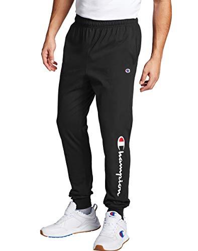 Champion Men's Classic Jersey Jogger Pant-Graphic, Black-15 Script Low Leg, X Large