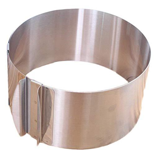Tortenboden Schneide Edelstahl Worsendy Kuchen Ring Edelstahl Verstellbarer Tortenring mit Skalierung Durchmesser verstellbar von 16 bis 30 cm