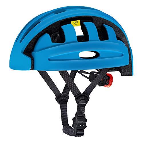 Casco Bicicleta Con luz Trasera LED,CE Certified- Adulto Casco Bicicleta Montaña,Almacenamiento Plegable...