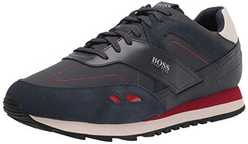 Hugo Boss mens Sneaker, Smooth Navy/Cherry Red, 7 US
