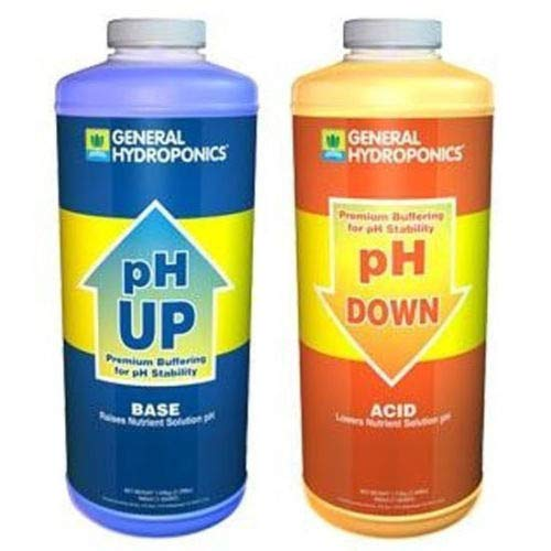 GH General Hydroponics pH Up and pH Down 1 Quart Combo Kit Water Adjuster Buffer