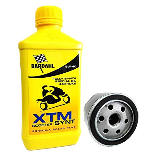 Tecneco Kit piaggio beverly 400 2 litres huile Bardahl XTM 5 W40 Filtre à huile