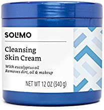 Amazon Brand - Solimo Cleansing Skin Cream with Eucalyptus Oil, 12 Ounce