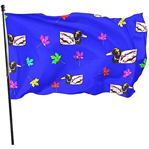 Loons Duck Durable Drapé Drapeaux Décoratifs Résistant Drapeau avec Oeillets Polyester De en Plein Air Bannière pour Toutes Les Saisons Vacances 3X 5 Ft