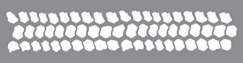 Andy Skinner Mixed Media Schablone Tread Carefully, 30 x 7 cm, Plastik, grau, 8 x 31 x 0.3 cm