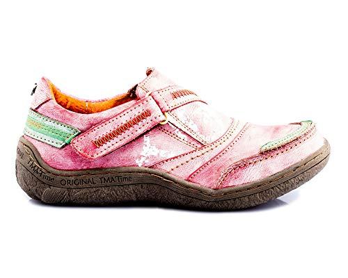 TMA 1364 Damen Sneaker Leder rot - EUR 39