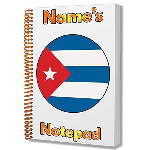 Gepersonaliseerd geschenk - Cuba Vlag A5 Kladblok/notitieboekje - Cadeau - Verjaardag - Kerstmis - Kachelvuller - Geheime Kerstman - ADD Elke naam