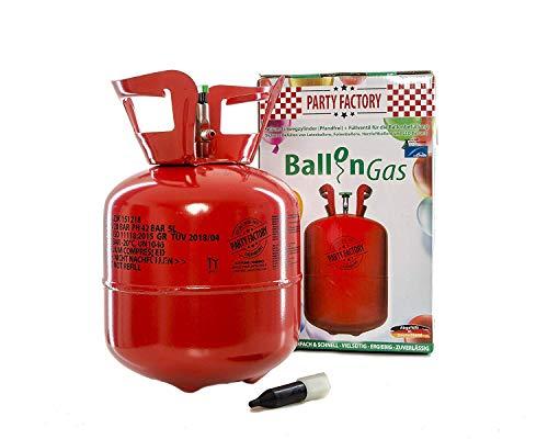 Party Factory Ladenburg Ballongas Helium Flasche für 20 Luftballons
