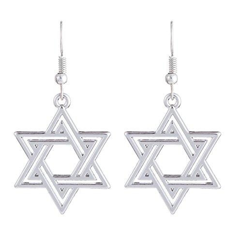 Judía Amuleto Estrella de David Hexagram Talismán Religioso Pendient