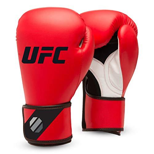 UFC Herren Fitness Training Glove Boxhandschuhe, Rot/Schwarz, 16 oz