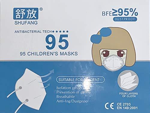 10x Kind Atemschutz Maske Premium Nasenclip Mund und und Nasenschutz Mundschutz Atemmaske - Schutzmaske mit Filterleistung Kinder