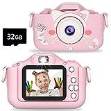 Faraone4w Kids Digital Camera, Dual Cameras Video Recorder with 32GB Memory Card