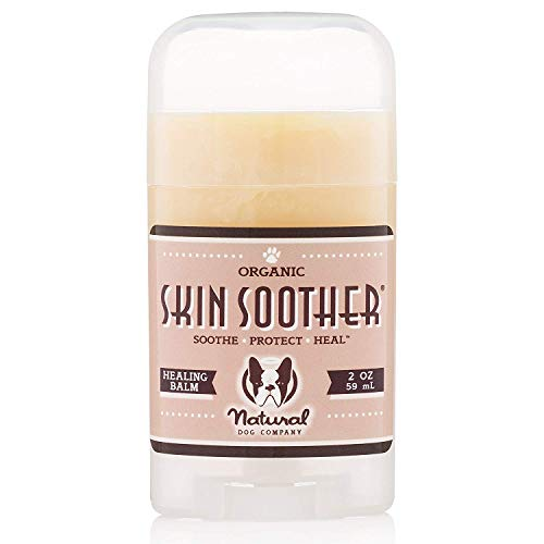 Natural Dog Company Skin Soother Healing Balm, Relieves Dry, Itchy Skin, Allergies, Skin Irritations, Hot Spots & Wounds, Organic, All Natural Ingredients, 2oz Stick