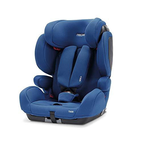 Recaro Kids, Seggiolino Tian, Seggiolino Auto (9-36 Kg), Comfort e Sicurezza, Installazione Universale, Gruppo 1-2-3, Connettori Isofix gruppo...