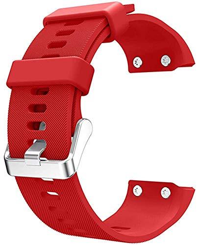 Gransho Silicone Bandes de Montre Compatible avec Garmin Forerunner 35 - Libération Rapide - Choisissez Couleur - Montre Sangles (Rouge)