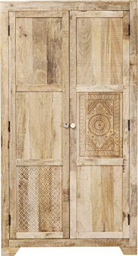 Kare Design Puro Schrank, Kleiderschrank Massivholz, Flurschrank Holz, (H/B/T) 190x100x58cm