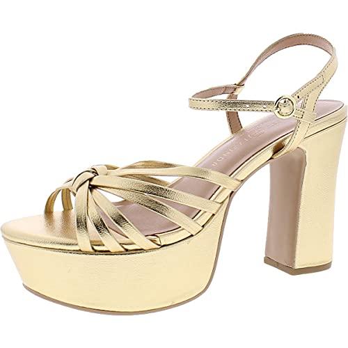Chinese Laundry Women's Platform Sandal Heeled, Gold, 9.5