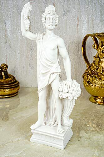 Kremers Schatzkiste Alabaster Deko Figur Dionysos Gott des Weins 25cm Skulptur Statue weiß Bacchus