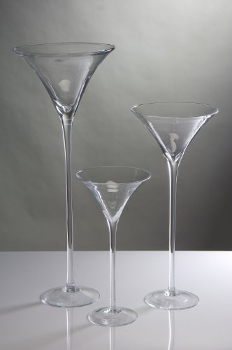 XXL Martiniglas Glas Kelch Riesenglas Glasvase Blumenvase Bodenvase riesig groß ca. 90 cm