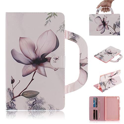 Candy House - Funda para tablet Lenovo Tab 3 8 Plus (P8 TB-8703F), cartera con soporte portátil [mango] [tarjetero] cierre magnético (flor)