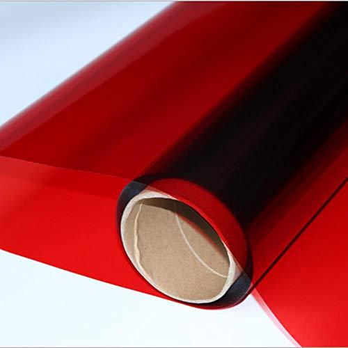 Rode decoratieve glasfolie glas tint woningbouw glas sticker A4 / 100cm / 200cm / 300cm / 500cm / 600cm, 50cmx100cm