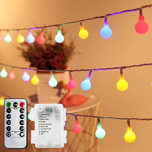 Guirnalda Luces, Infankey 10M 100LED Luces Led Decorativas con Mando a Distancia, 8 Modos/Timer Función/IP44 Impermeable, Guirnaldas Luces Exterior para Jardín, Terraza, Fiesta, Navidad