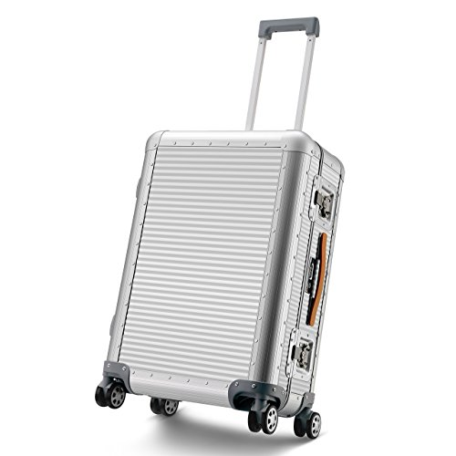 All Aluminum Luggage Business Travel Hardside Suitcase TSA Approved 360 Rolling Wheels Luxury...