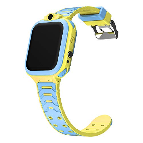ANYIKE Kids Smartwatch telefoon, T16 Waterdichte Anti-verloren monitor, Smart Watch SOS Call Locatie Finder met Call Voice Chat Camera Games Alarm Klok, B