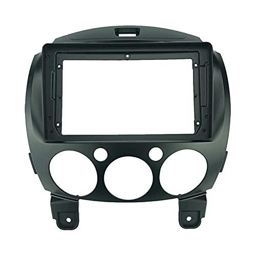 binbin 2 Instalación de Radio de Coches DIN 9 Pulgadas DVD GPS MP5 ABS PC Plastic Fascia Dashboard Plane Frame Fit para Mazda 2 2010+ Kit (Color Name : Only Frame)