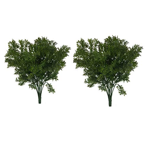 2 Bunches Plastic Artificial Parsley Grass Rosemary Plants fit for Home Garden Decoration
