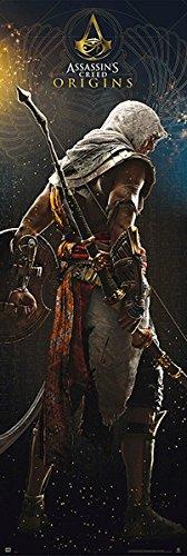 Assassin's Creed Póster de Puerta Origins - Promo (53cm x 158cm) + Embalaje para Regalo