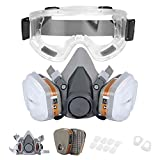 Reusable Half Facepiece Cover Set For Gas Respirator Painting Welding Woodworking and Other Work Protection, Against Dust Organic Vapors Pollen and Chemicals