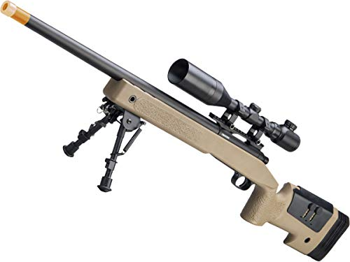 Evike Airsoft - CYMA USMC M40A3 Realistic Cycling Action Airsoft Sniper Rifle (Model: Desert   500 FPS)