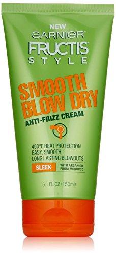 Garnier Fructis Style Smooth Blow Dry Anti-Frizz Cream, 5.1 fl. oz.