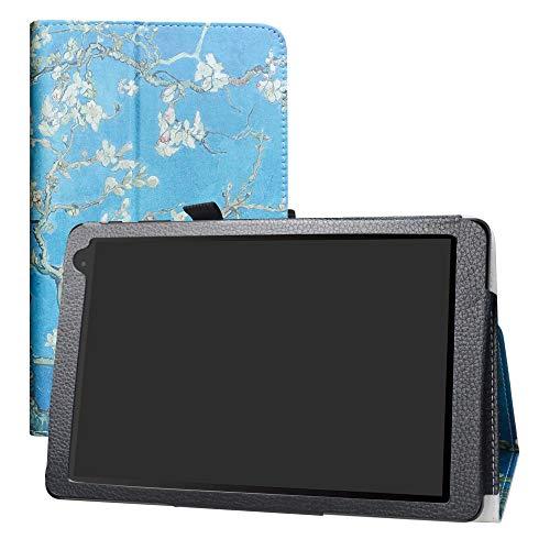 LFDZ Alcatel 1T 10inch Hülle, Schutzhülle mit Hochwertiges PU Leder Tasche Hülle für 10
