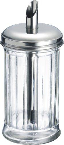 Westmark Zuckerdosierer, Fassungsvermögen: 300 ml, Glas/Rostfreier Edelstahl, New York, Silber/Transparent, 65242260