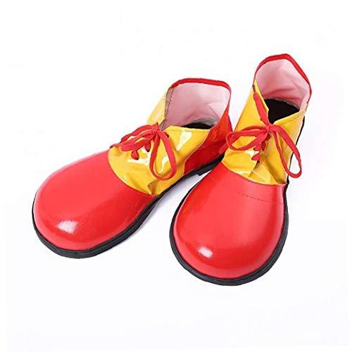 1pc Del Payaso De Halloween Zapatos Unisex Adultas Jumbo Grandes Payaso Zapatos Disfraces De Halloween Accesorios Para Fiestas Cosplay Desgaste (rojo)