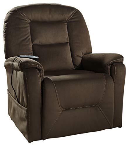 Signature Design by Ashley Samir Heated Massage Power Lift Adjustable Recliner, Brown