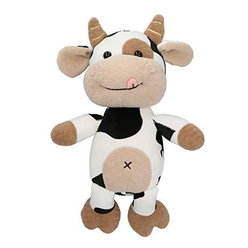 Xirfuni Peluche de Becerro, ecológico 3 tamaños Diferentes Disponibles Hermoso y práctico Juguete de Peluche de Vaca, Seguro para niños Regalo de cumpleaños Niños y niñas(40cm)