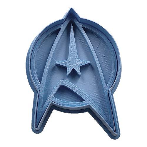 Cuticuter Star Trek Insignia Ausstechform, Blau, 8x 7x 1.5cm