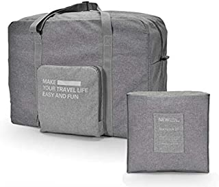 Travel Duffle Bag Unisex's Lightweight Waterproof Foldable Storage Carry Luggage Tote Bag, by Cloudin, (Gray)