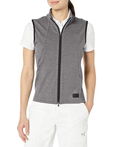 PUMA Golf 2020 Women's Cloudspun Vest, Puma Golf Black Heather, Medium