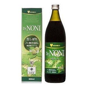 【3本セット】ドクターノニ 生しぼり ノニ果汁100%無添加ジュース 900ml