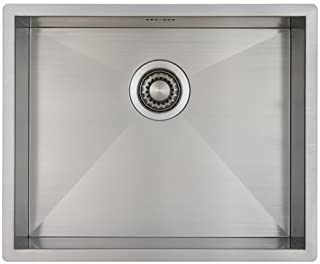Edelstahl Küchenspüle/Spülbecken MIZZO Quadro 45-40 Flächenbündig/Unterbau - Eckige Edelstahlspüle/spüle 45  40 cm