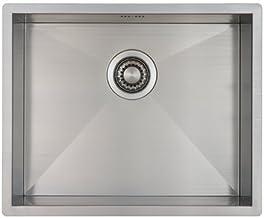 RVS Spoelbak Keuken 45 cm Onderbouw/Vlakbouw - Moderne Keuken Spoelbak MIZZO Quadro - Spoelunit