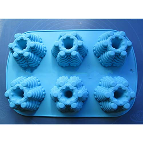 SHUHUI Silikon 6C Baumkuchen Schokoladenpudding Jelly Candy Ice Cookie Keks Schimmel Schimmelpfanne Backformen