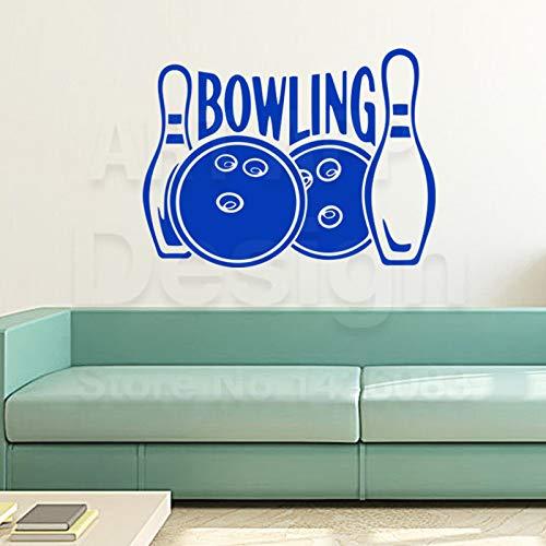 Arte nuevo diseño decoración del hogar vinilo bola de boliche personaje etiqueta de la pared extraíble decoración de la casa deportes palabras calcomanías en la habitación ww-4 pequeño 43 cm x 58 cm